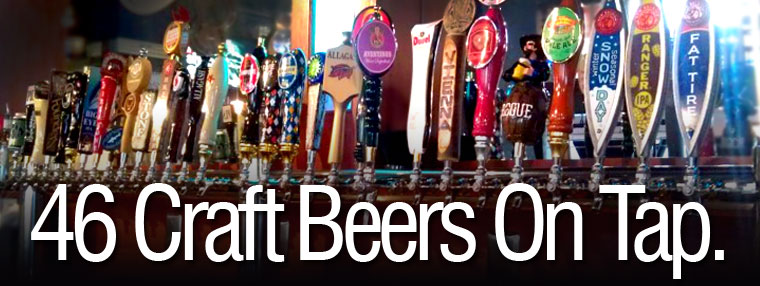 46 craft beers on tap!